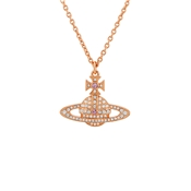 Vivienne Westwood Kika Rose Gold Crystal Necklace