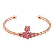 Vivienne Westwood Grace Pink Crystal Bangle