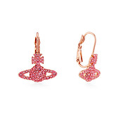 Vivienne Westwood Grace Pink Crystal Drop Earrings