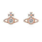 Vivienne Westwood Rose Gold Valentina Stud Earrings