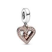 All Of Me Sparkling Freehand Heart Charm by Pandora