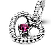 Pandora July Birthstone Heart Charm