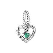 May Birthstone Heart Charm by Pandora