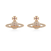 Vivienne Westwood Kika Rose Gold Crystal Earrings