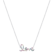 Argento Silver Rainbow Love Necklace