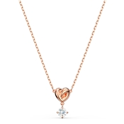 Swarovski Lifelong Heart Rose Gold Necklace