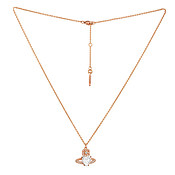 Vivienne Westwood Rose Gold Ariella Necklace