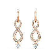 Swarovski Infinity Rose Gold Drop Earrings