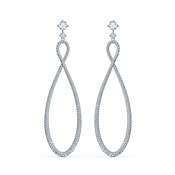 Swarovski Infinity Silver Drop Earrings