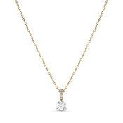 Swarovski Solitaire 7mm Gold Necklace