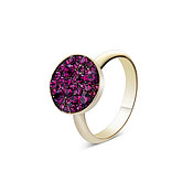 August Woods Gold Purple Minerals Rings