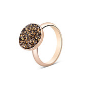 August Woods Rose Brown Minerals Ring