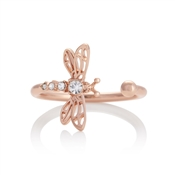 Olivia Burton Dancing Dragonfly Rose Gold Adjustable Ring