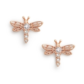 Olivia Burton Dancing Dragonfly Rose Gold Earrings