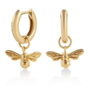 Olivia Burton Lucky Bee Gold Huggie Earrings