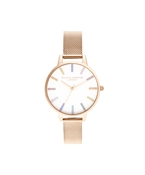 Olivia Burton Rainbow Rose Gold Mesh Watch