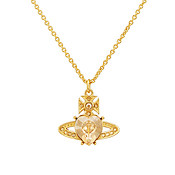 Vivienne Westwood Golden Shadow Ariella Heart Necklace