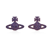 Vivienne Westwood Purple Grace Bas Relief Earrings