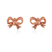 Vivienne Westwood Rose Gold Bow Gail Earrings