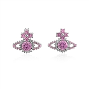 Vivienne Westwood Pink Valentina Orb Earrings