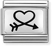 Nomination Silver Love Heart Arrow Charm