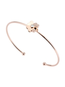 Ted Baker Rose Gold Heart Flower Cuff Bracelet