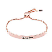 Karma Rose Gold Daughter ID Bracelet