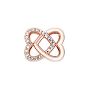 Karma Rose Gold Interlink Heart Charm