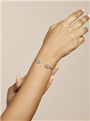 Ted Baker Silver Daisy Crystal Cuff Bracelet