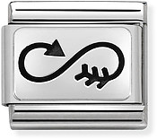 Nomination Silver Infinity Arrow Charm