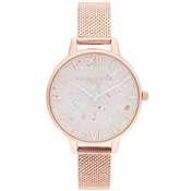 Olivia Burton Celestial Rose Gold & White Dial Ladies Watch