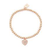 August Woods Rose Gold Beaded Heart Bracelet