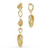 Swarovski Shell Gold Statement Earrings