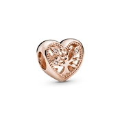 Pandora Rose Openwork Family Tree Heart Charm