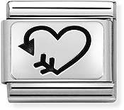 Nomination Silver Heart & Arrow Charm