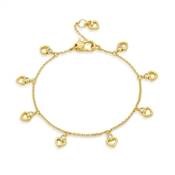 Kate Spade New York Gold Crystal Heart Bracelet