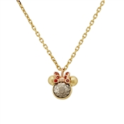 Kate Spade New York Gold Minnie Mouse Necklace