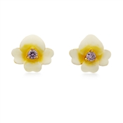 Kate Spade New York Gold Pansy Earrings