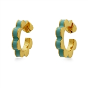 Kate Spade New York Turquoise Scalloped Huggie Earrings