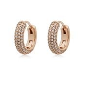Kate Spade New York Rose Gold Crystal Pave Huggie Earrings