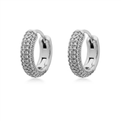 Kate Spade New York Silver Crystal Pave Huggie Earrings