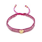 Kate Spade New York Purple Friendship Heart Bracelet