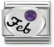 Nomination February Amethyst Birthstone Charm