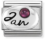 Nomination January Garnet Birthstone Charm