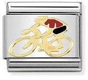 Nomination Red Cyclist Charm