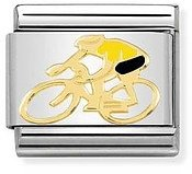 Nomination Yellow Cyclist Charm