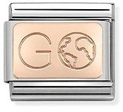 Nomination Rose Gold Go With Earth Charm