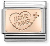 Nomination I Love Travel Charm