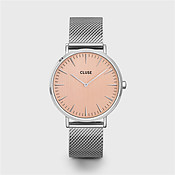 CLUSE La Boheme Silver Mesh & Rose Gold Watch