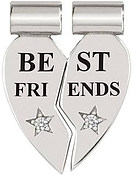 Nomination Silver Best Friends Double SeiMia Charm